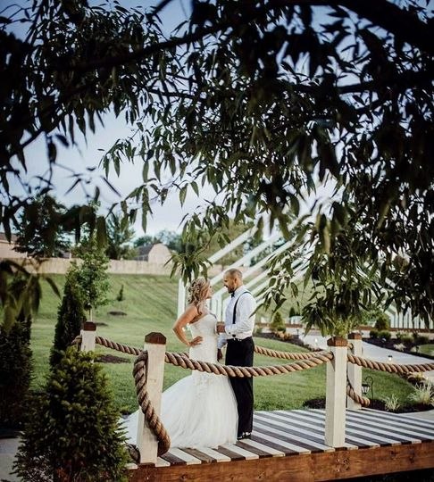 Bridge in outdoor space