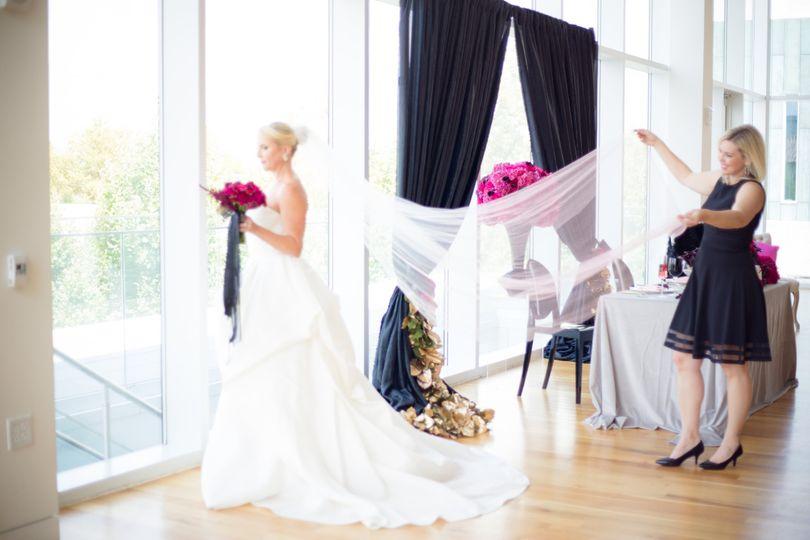 styled shoot veil
