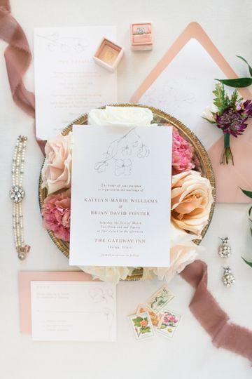 MERRILL WEDDING INVITATION
