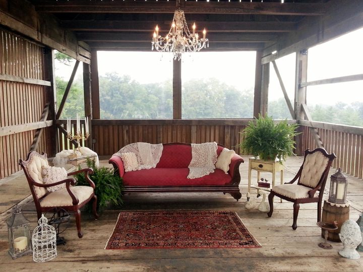 Tmx 1420659979409 Red Sofa In Corn Crib Lancaster wedding rental