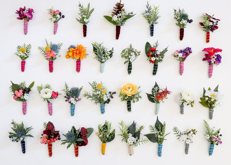 So many boutonniere options