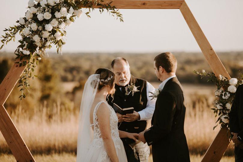 Hexagonal wedding arch