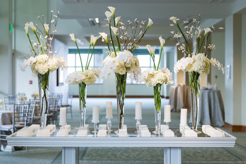 Flower decor for weddings