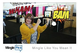 """Using a few virtual props to add a little """"punch"""" to the pic."""