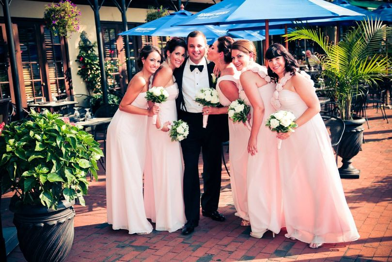 Groom and the ladies