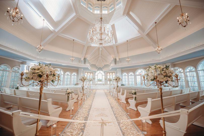 The ornate wedding pavilion