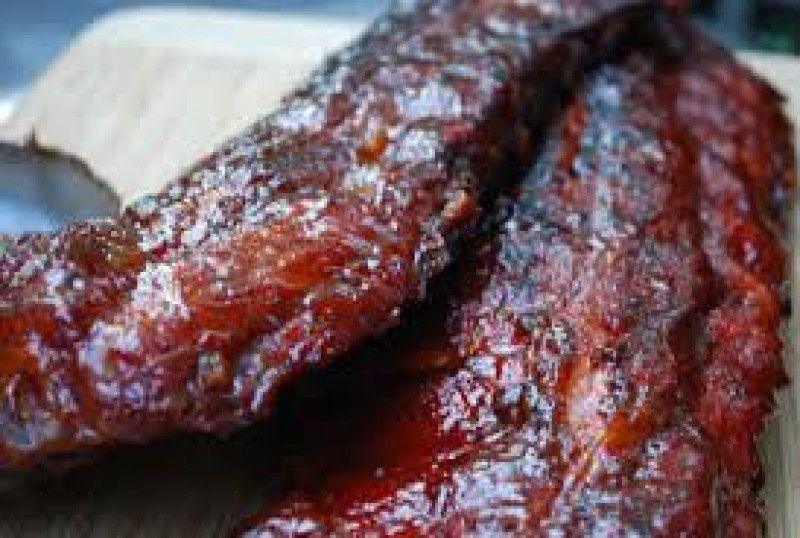 Fresh cooked rib for party