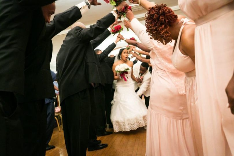 Make room for the bride and groom