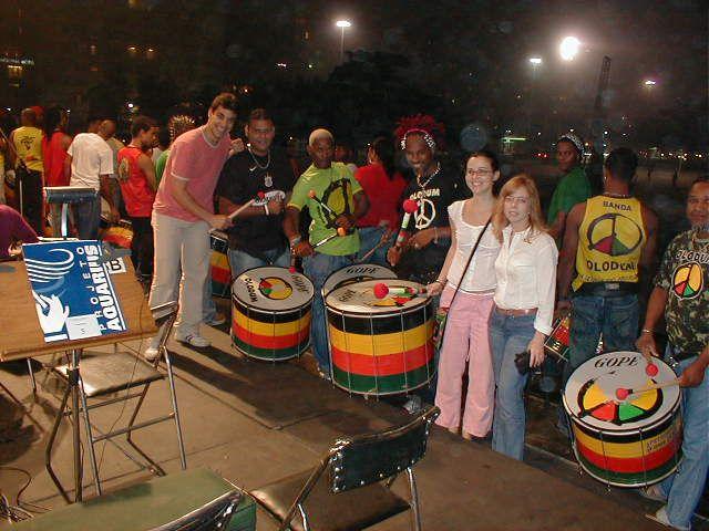 Rio show with Olodum