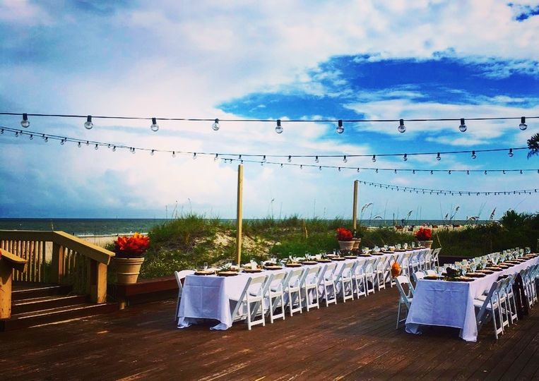 dunes house long tables