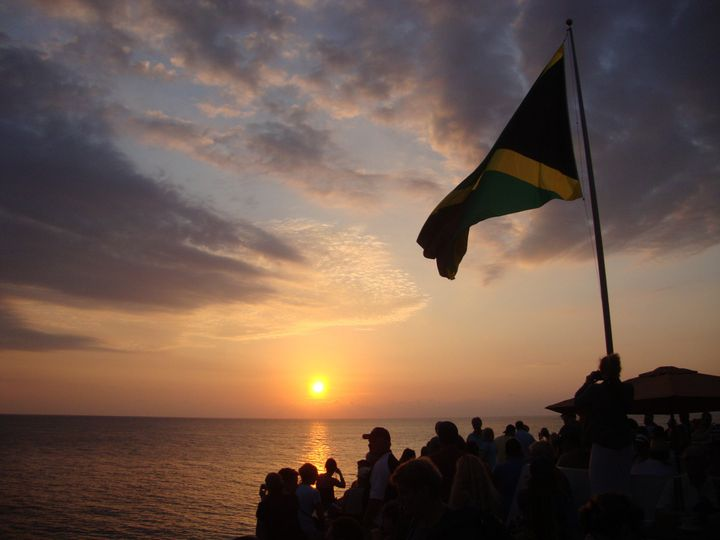 Jamaican sunset at the famous Rick's Cafe in Negril!