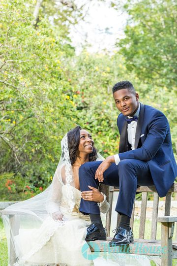 Newlywed photo session at The Fairchild Botanical Garden in Coral Gables Florida