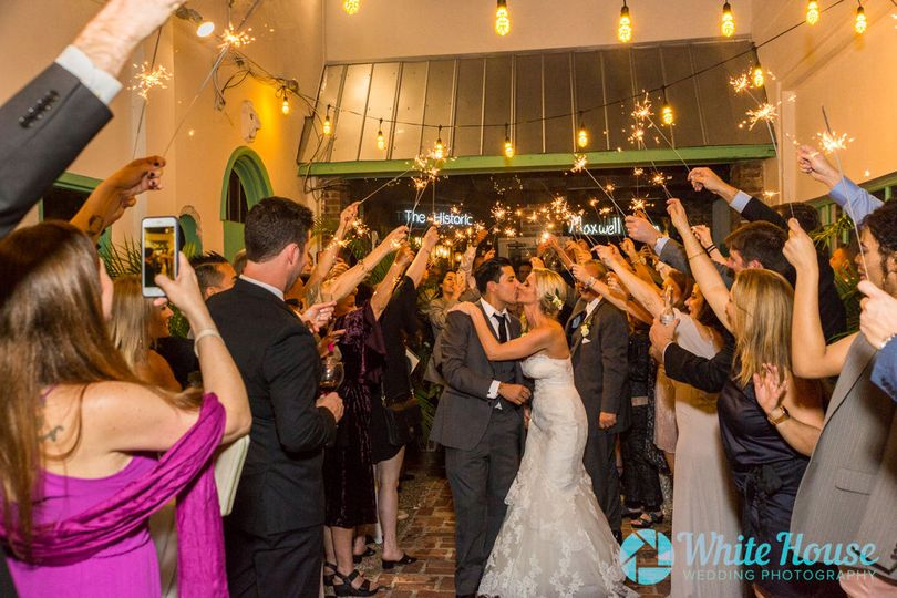 Husband and Wife Sparkles Grand Exit Fort Lauderdale