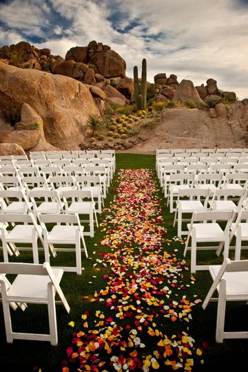 Outdoor ceremony venue