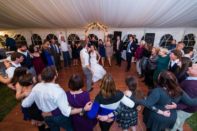 """Bride and Groom during last dance of the evening to """"Friends in Low Places"""""""