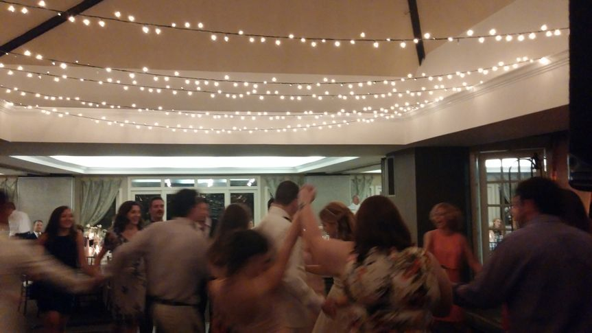 Everyone having fun during last dance.