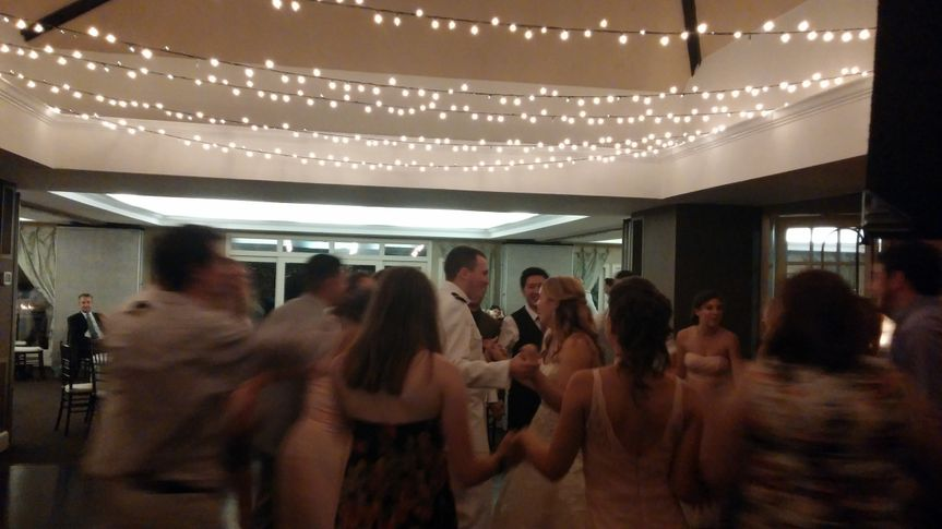 Bride and Groom having a blast with their guests