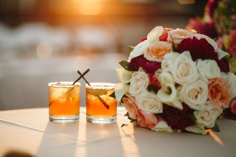 Bride and Groom beverages