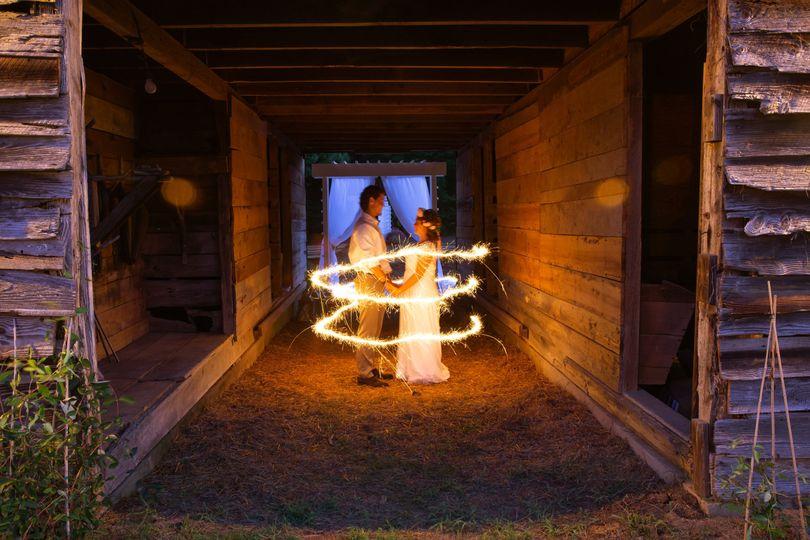 Sparkler entrance