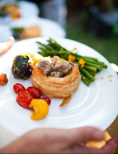 Pastry and vegetables