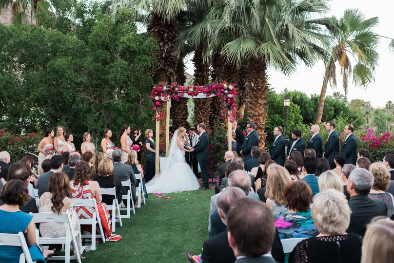 Wedding Ceremony on Lower Lawn Area