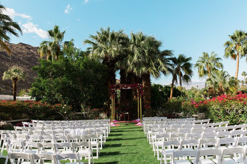 Spencer's Restaurant Lower Lawn offers a perfect outdoor setting for a Palm Springs Wedding Ceremony