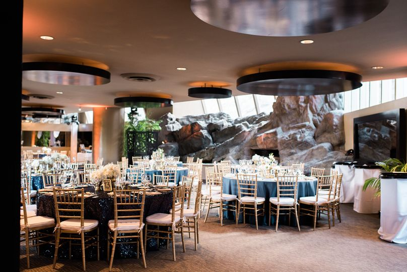 The Bougainvillea Ballroom is unique in shape and design, offering an indoor waterfall feature and...