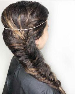 Boho fishtail braid
