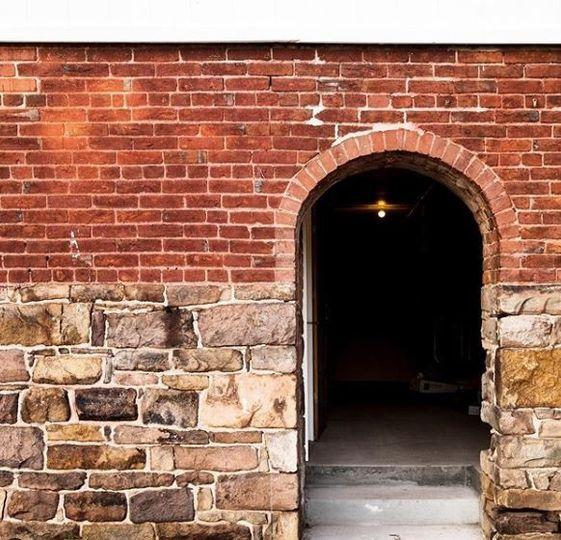 Exposed brick walls