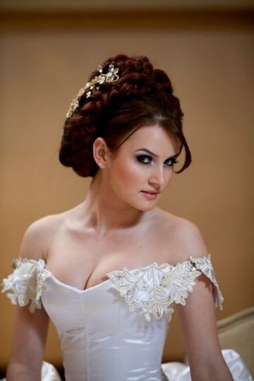 Bridal Fashion Show at The Venetian.  Dark Smokey Eye, Bridal makeover.