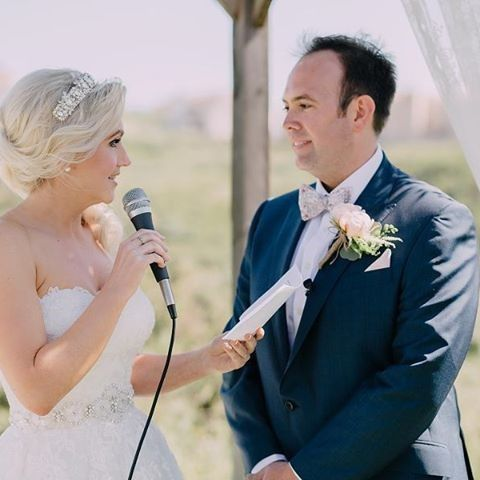 """The reading of the vows, probably the most important moment in the entire ceremony before you say """"I..."""