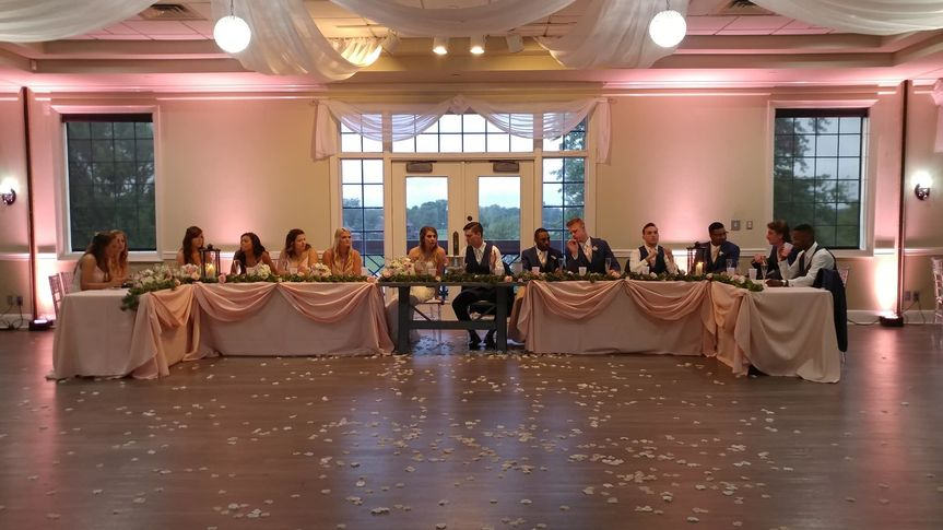 Head table in the grand ballroom