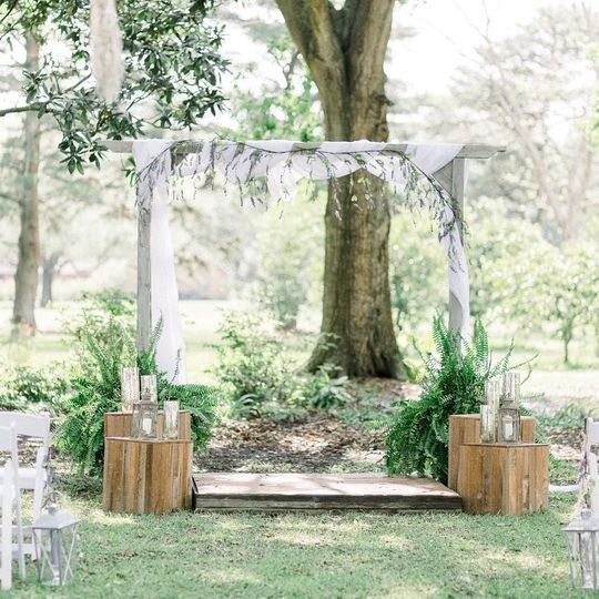 Beautiful ceremony area