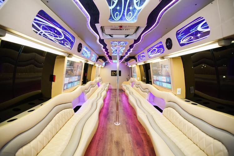 Interiors of the party bus