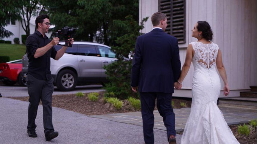 Justin Filming couple walking
