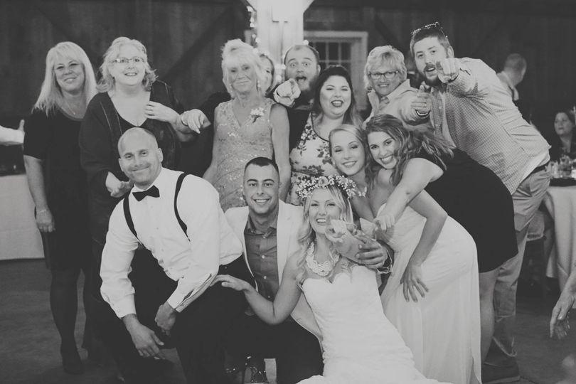 bw wedding photo