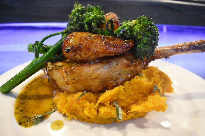 Pork Chop with Sweet Mashed