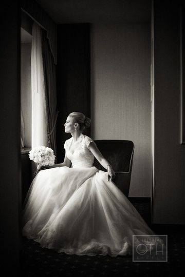Bride in the suite