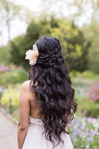 Bridal hair and flower