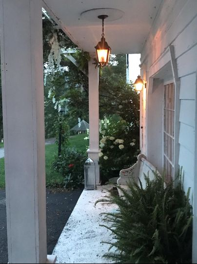 Porch outside event space