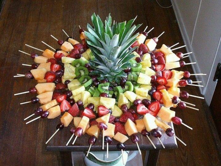 Fruit Skewer Display