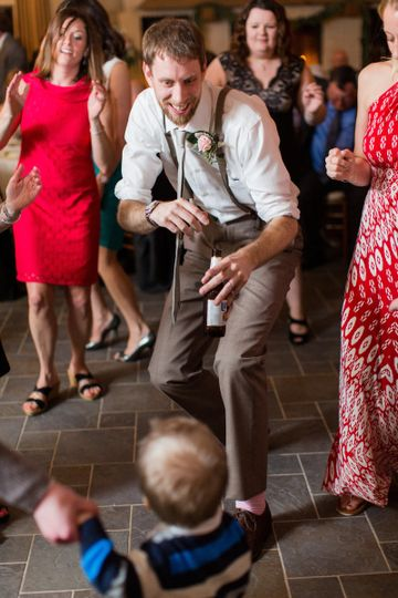 Dancing with the little boy
