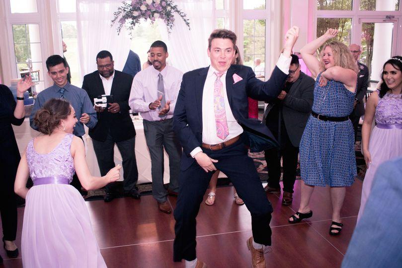 Groom on the dance floor