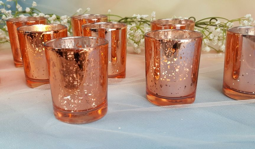 Rose Gold Mercury ...  if they are not on my site - then message me.  VotivesGaloreandMore...