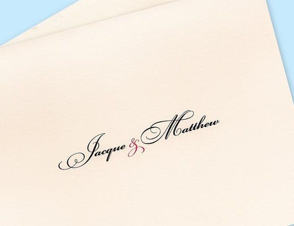 { NEWLYWED NOTE CARDS - Personalized }  • 8 folded Note Cards with matching envelopes • Printed...