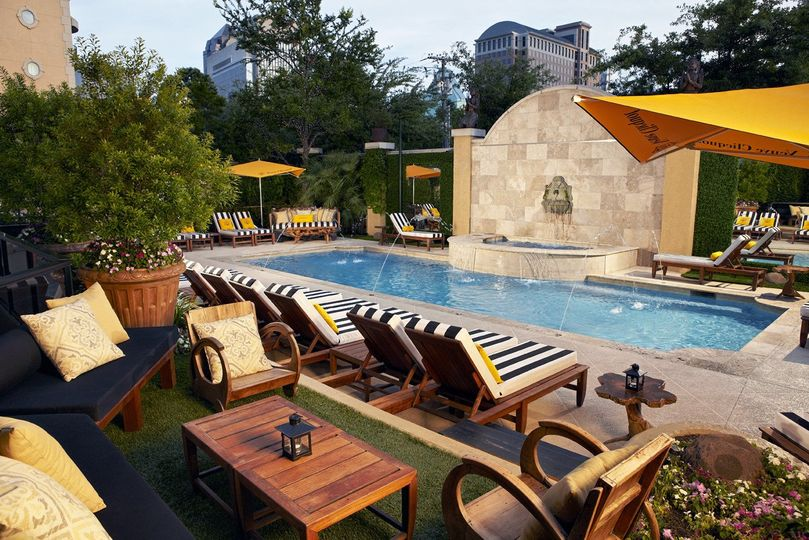 Poolside at Hotel ZaZa is the perfect setting to lounge and relax before your big day!
