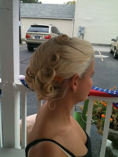 Updo provided by The Springs Salon & Spa