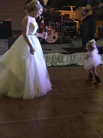 Bride and her junior bridesmaid