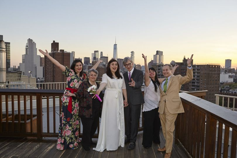 Rooftop ceremony, East Village