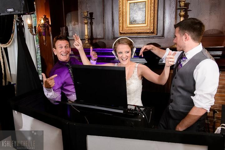 DJ Don with Bride playing the role of DJ at Gramercy Mansion